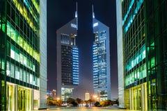 Башни эмиратов, Дубай, ОАЭ Стоковые Фото
