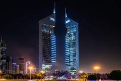 Башни эмиратов, Дубай, ОАЭ Стоковое фото RF