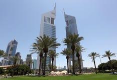 башни эмиратов Дубай Стоковые Изображения RF