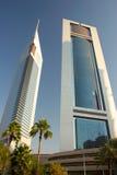 башни эмиратов Дубай стоковое фото rf