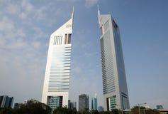 башни эмиратов Дубай Стоковые Фотографии RF