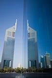 Башни эмиратов, Дубай, UAE Стоковое Изображение RF