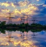 Башни энергии Стоковая Фотография RF