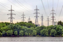 Башни электричества Стоковое фото RF