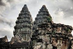 2 башни Angkor Wat Стоковые Изображения