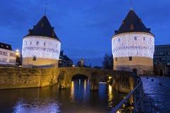 Башни Broel в Кортрейке в Бельгии Стоковое Изображение
