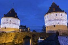 Башни Broel в Кортрейке в Бельгии Стоковые Фото