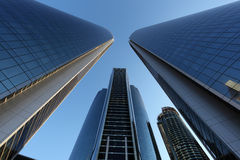 Башни Etihad в Абу-Даби стоковые фото