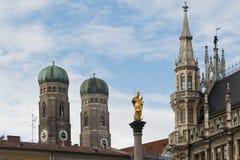Башни Frauenkirche в Мюнхене Стоковое Фото