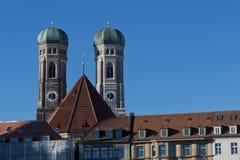 Башни Frauenkirche в Мюнхене Стоковые Фотографии RF