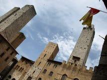 башни gimignano s Стоковые Фото