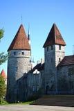 Башни inTallinn стены городка стоковые фотографии rf