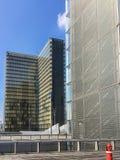 2 башни nationale de Франции Bibliotheque на солнечный летний день Стоковое Изображение RF