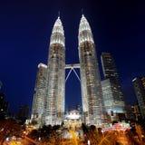 Башни Petronas, Куала Лумпур, Малайзия Стоковая Фотография RF