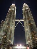 башни petronas ночи Стоковое фото RF