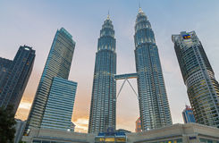 Башни Petronas Стоковые Фотографии RF