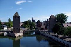Башни Ponts Couverts страсбург Франции Стоковые Изображения RF