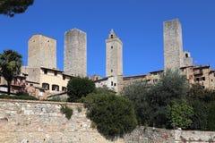 Башни San Gimignano в Италии Стоковая Фотография