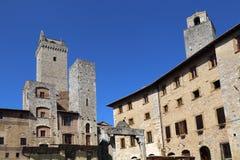 Башни San Gimignano в Италии Стоковое Изображение
