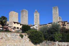 Башни San Gimignano в Италии Стоковая Фотография RF