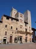 2 башни, San Gimignano, Италия Стоковые Изображения RF