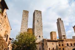 Башни San Gimignano, Тоскана, Италия Стоковые Фото