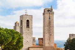 Башни San Gimignano, Тоскана, Италия Стоковые Изображения RF