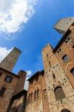 Башни San Gimignano - Тоскана Стоковое Фото