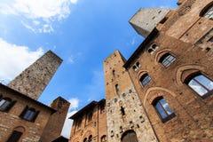 Башни San Gimignano - Тоскана Стоковые Изображения