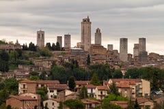 Башни San Gimignano, Тосканы, Италии Стоковая Фотография
