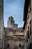 Башни San Gimignano, Тосканы, Италии Стоковые Изображения RF