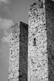 Башни San Gimignano, Тосканы Пекин, фото Китая светотеневое Стоковое Фото