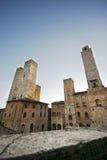 башни san gimignano Стоковые Фотографии RF