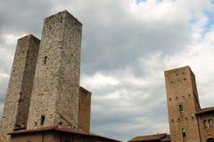 башни san gimignano Стоковые Изображения