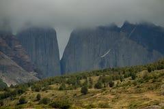 Башни Torres в облаках Стоковое Фото