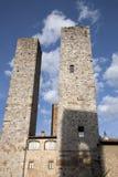 Башни Torri Salvucci, San Gimignano; Тоскана Стоковое Фото