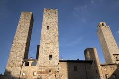 Башни Torri Salvucci; San Gimignano Стоковое фото RF