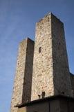 Башни Torri Salvucci; San Gimignano Стоковая Фотография RF