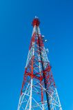Башня антенны и спутника радио радиосвязи Стоковые Фото