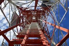 Башня антенны сообщения Стоковые Фотографии RF