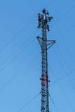 Башня антенны сотового телефона радиосвязи Стоковое Фото