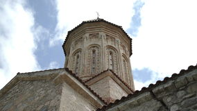 Башня античного монастыря Ikalto в Georgia сток-видео