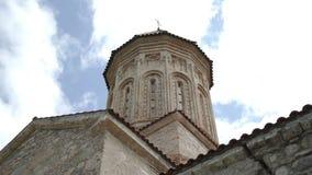 Башня античного монастыря Ikalto в Georgia видеоматериал