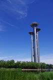 Башня ландшафта Пекина олимпийская Стоковое Изображение