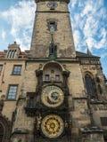 Башня астрономических часов на городской площади Праги старой, чехе Republ Стоковые Изображения RF