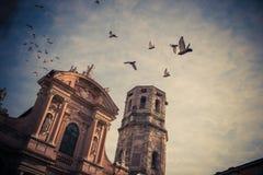 Башня базилики San Prospero Стоковая Фотография