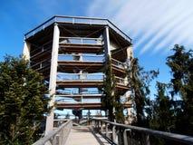 Башня бдительности цистерной с водой Lipno стоковое изображение rf