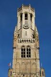 Башня Брюгге колокольни Стоковое Изображение