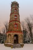 Башня бдительности в заходе солнца Стоковые Изображения