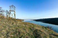 Башня бдительности на острове Khortytsya Стоковое Изображение RF